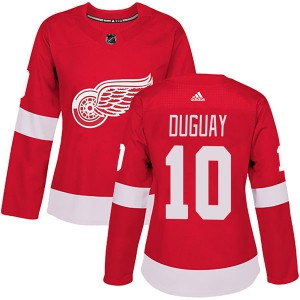 Women's Detroit Red Wings Ron Duguay Adidas Authentic Home Jersey - Red