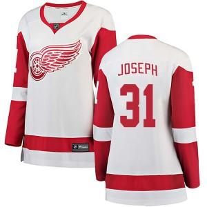 Women's Detroit Red Wings Curtis Joseph Fanatics Branded Breakaway Away Jersey - White