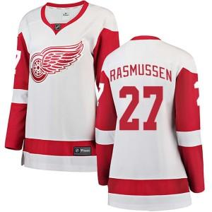 Women's Detroit Red Wings Michael Rasmussen Fanatics Branded Breakaway Away Jersey - White