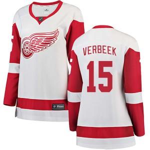 Women's Detroit Red Wings Pat Verbeek Fanatics Branded Breakaway Away Jersey - White