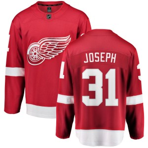 Men's Detroit Red Wings Curtis Joseph Fanatics Branded Home Breakaway Jersey - Red