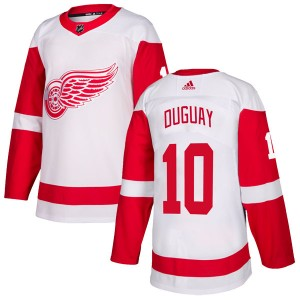 Men's Detroit Red Wings Ron Duguay Adidas Authentic Jersey - White