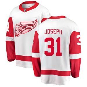 Youth Detroit Red Wings Curtis Joseph Fanatics Branded Breakaway Away Jersey - White