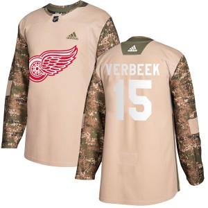 Men's Detroit Red Wings Pat Verbeek Adidas Authentic Veterans Day Practice Jersey - Camo