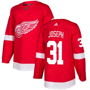 Men's Detroit Red Wings Curtis Joseph Adidas Authentic Jersey - Red
