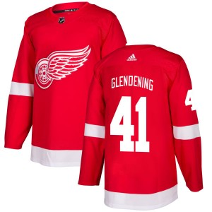 d1a8b96fa Men s Detroit Red Wings Luke Glendening Adidas Authentic Jersey - Red