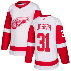 Men's Detroit Red Wings Curtis Joseph Adidas Authentic Jersey - White