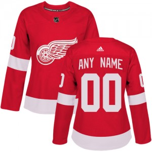 a55a3450 Women's Detroit Red Wings Custom Adidas Authentic ized Home Jersey - Red