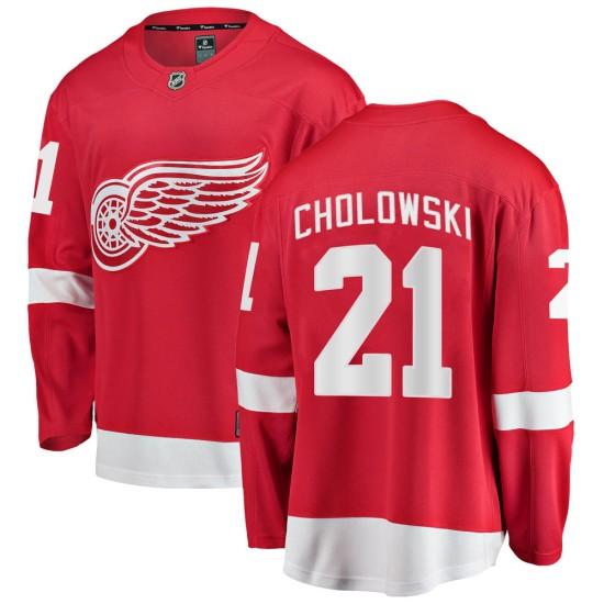 Men's Detroit Red Wings Dennis Cholowski Fanatics Branded Breakaway Home  Jersey - Red