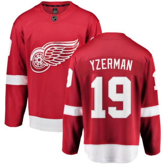 7970ce22eb3 Men s Detroit Red Wings Steve Yzerman Fanatics Branded Home Breakaway Jersey  - Red