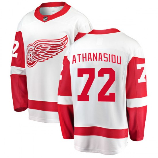 save off 22cb8 39e52 Youth Detroit Red Wings Andreas Athanasiou Fanatics Branded Breakaway Away  Jersey - White
