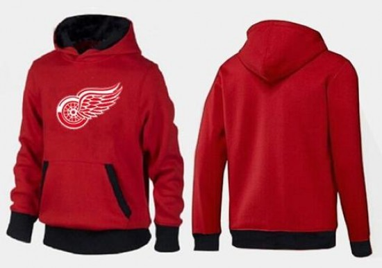 buy popular 100e5 9f513 Men's Detroit Red Wings Big & Tall Logo Pullover Hoodie - - Red/Black