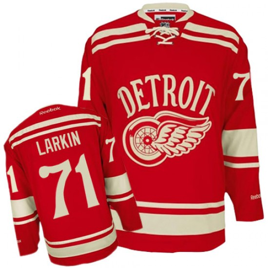 save off f4695 5ad1f Men's Detroit Red Wings Dylan Larkin Reebok Authentic 2014 Winter Classic  Jersey - Red
