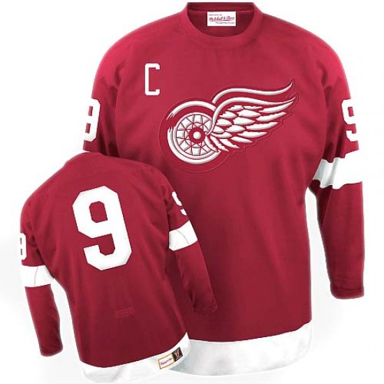 c78e2994 Men's Detroit Red Wings Gordie Howe Mitchell and Ness Premier Throwback  Jersey - Red