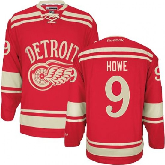 Men s Detroit Red Wings Gordie Howe Reebok Authentic 2014 Winter Classic  Jersey - Red 474535e774a