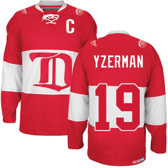 buy online 87251 88521 Men's Detroit Red Wings Steve Yzerman CCM Authentic Winter Classic  Throwback Jersey - Red