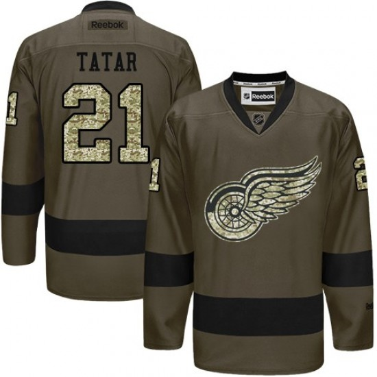 Men S Detroit Red Wings Tomas Tatar Reebok Authentic Salute To Service Jersey Green