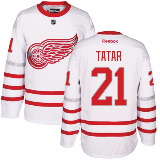 release date 82f4c 82e16 Men's Detroit Red Wings Tomas Tatar Reebok Authentic 2017 Centennial  Classic Jersey - White
