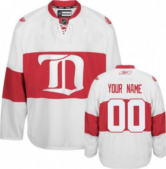 661712a5 Men's Detroit Red Wings Custom Reebok Authentic ized Third Jersey - White