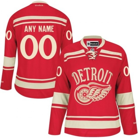 5b7a6720 ... 2009 Womens Detroit Red Wings Custom Reebok Authentic ized 2014 Winter  Classic Jersey - Red ...