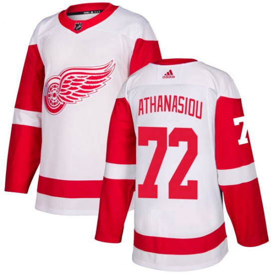 timeless design 2ce9b 4eef0 Men's Detroit Red Wings Andreas Athanasiou Adidas Authentic Jersey - White