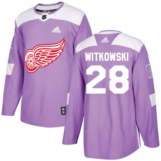 Men s Detroit Red Wings Luke Witkowski Adidas Authentic Fights Cancer  Practice Jersey - Purple 9e0ee7b62